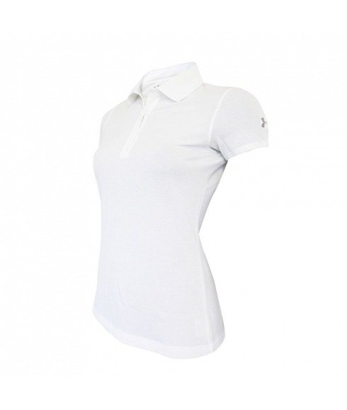 Pas cher Polo Under Armour Core Solid SS Blanc Femmes