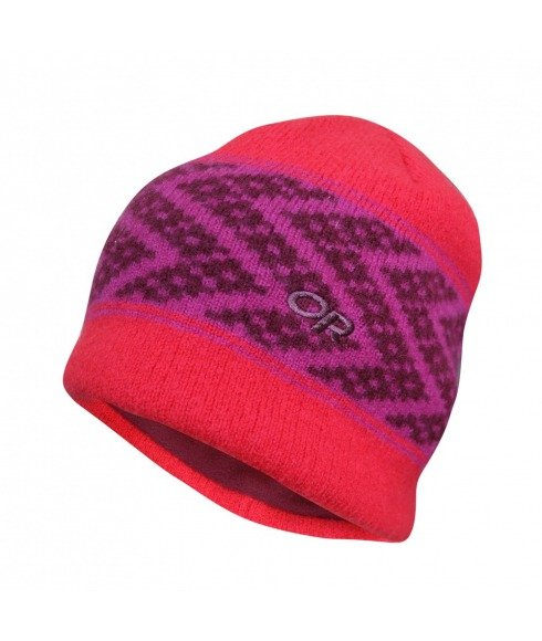 Pas cher Bonnet Outdoor Research Totem Beanie Rose Femmes