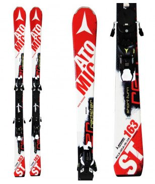 Skis Piste Atomic Redster St Smt Avec Fixations Rouge Mixtes