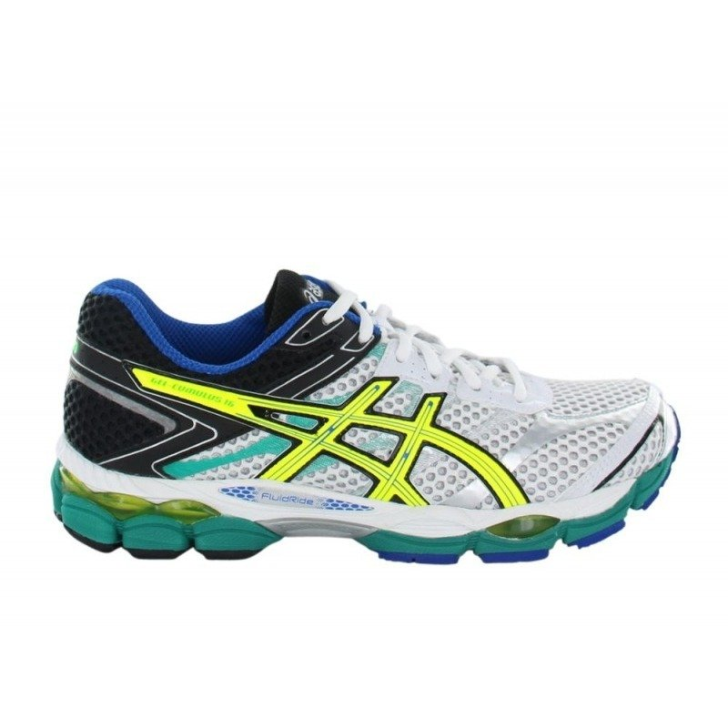 chaussures running asics gel cumulus 16 blanc hommes pas cher cr. Black Bedroom Furniture Sets. Home Design Ideas