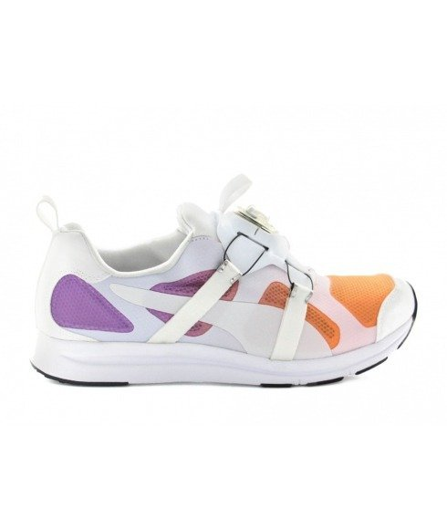 Pas cher Chaussures Running Puma Disc System Blanc Hommes