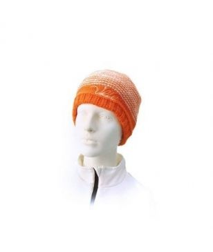 Völkl Bonnet Silver Star Beanie Orange & White