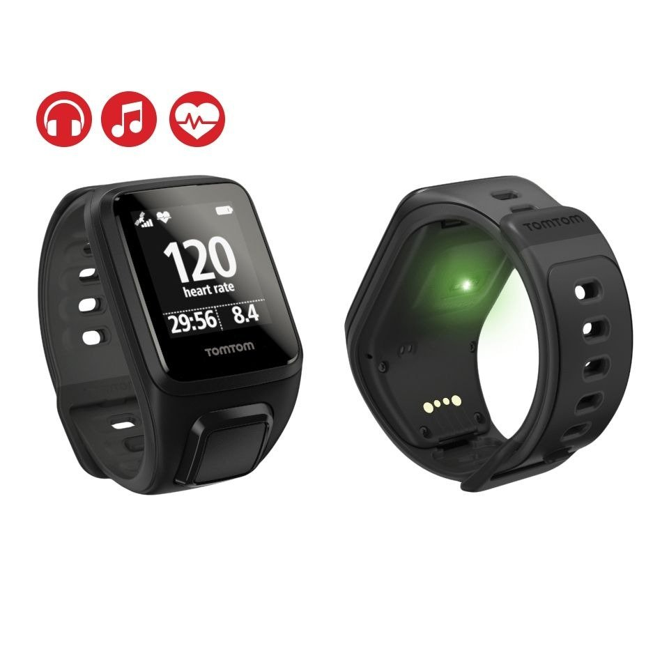 montre tomtom runner gps cardio noir mixtes pas cher. Black Bedroom Furniture Sets. Home Design Ideas