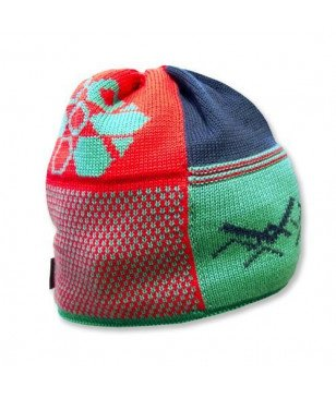 MAMMUT PLAID BEANIE - POOL POPPY OS