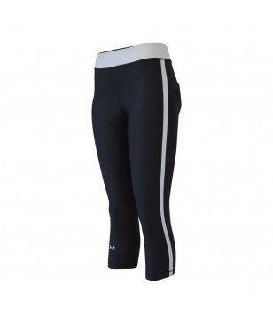 Pas cher Pantalon Running 3/4 Under Armour Ua Hg Armour Sport Capri Noir Femmes