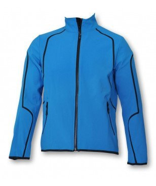 Völkl Men Black Softshell Jacket - Bright azur