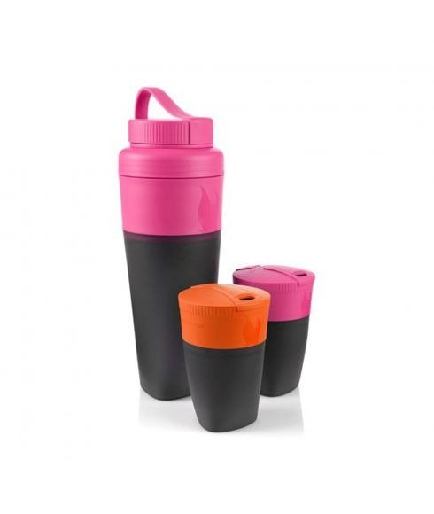 Pas cher Bouteilles Light my Fire Pack up Drink kit Rose Mixtes