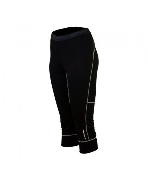 Mammut Warm Pants 3/4 Women Black Cyan