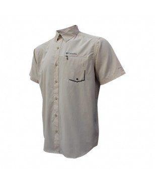 Chemise Columbia Twisted Creek TM SS Beige Homme
