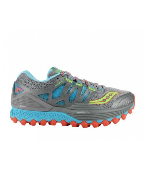 Pas cher Chaussures Running Saucony Xodus ISO Gris Femmes