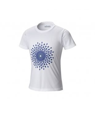 Columbia T-Shirt Sunny Burst Graphic Weiss Kinder