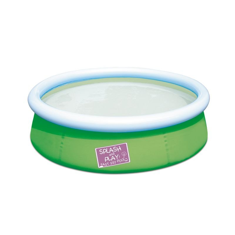 Piscine gonflable bestway my first fast set vert pas cher for Piscine gonflable bestway