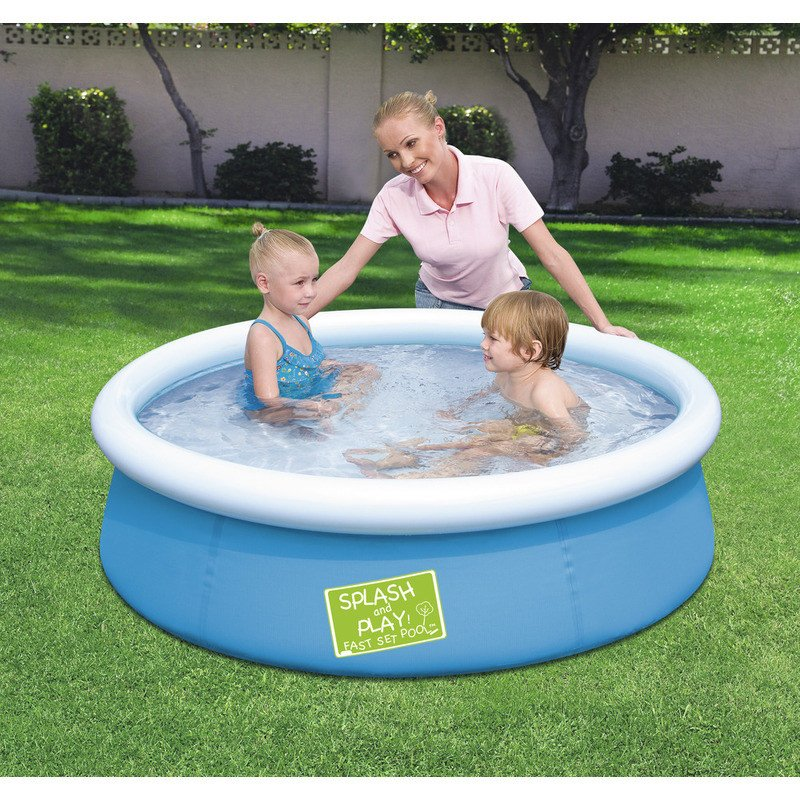 Piscine gonflable bestway my first fast set bleu enfants for Bestway piscine