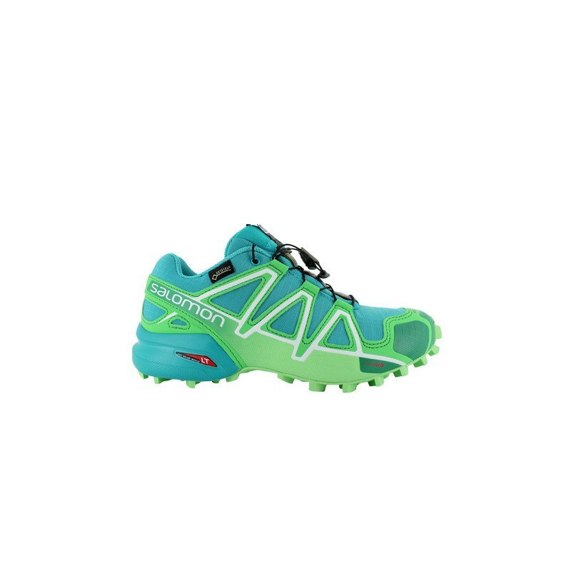 chaussures trail salomon speedcross 4 gtx vert femmes pas. Black Bedroom Furniture Sets. Home Design Ideas