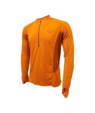 Dynafit Langarm-T-Shirt React 2 Orange Herren