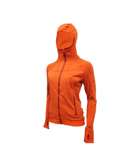 pull dynafit thermal hoody fluela orange femmes pas cher crazypri. Black Bedroom Furniture Sets. Home Design Ideas