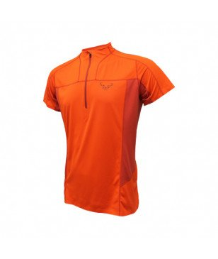 T-Shirt Dynafit React Dry Orange Hommes