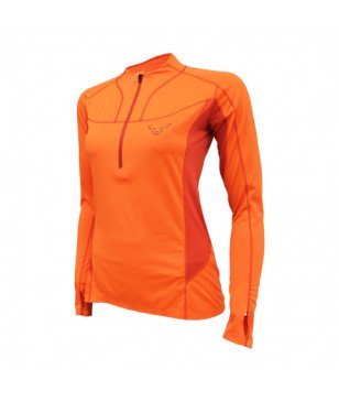 Dynafit Langarm T-Shirt React Dry Orange Damen