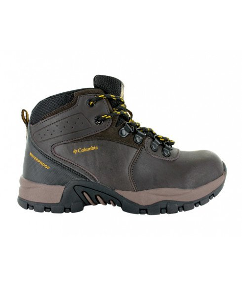 Chaussures Marche Columbia Newton Ridge Waterproof Brun Enfants