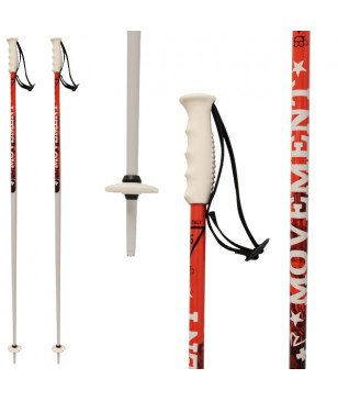 Bâtons Ski Movement Team Mad Rouge Mixtes