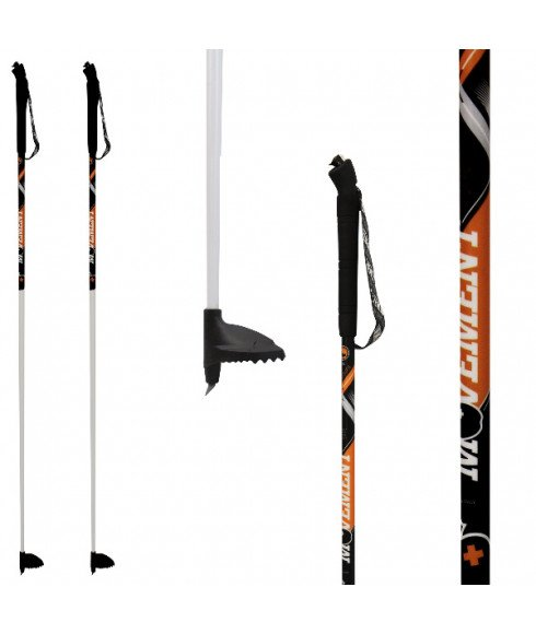 Bâtons Ski X-Race Pro Alu Orange Mixtes