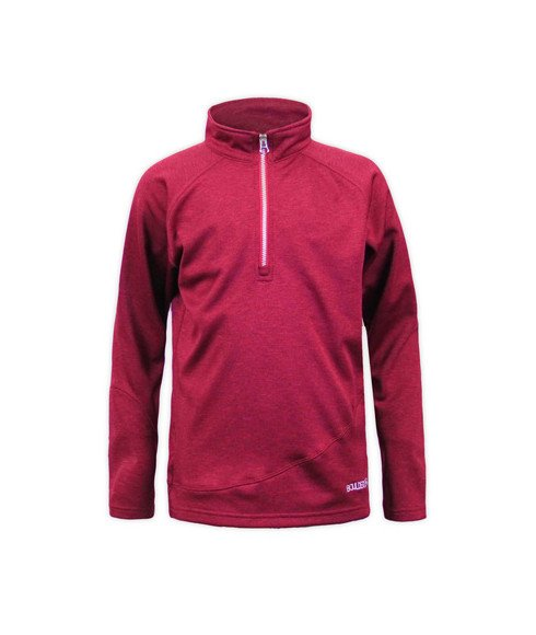 Pas cher Pull Outdoor Gear Youth Ruby Micro 1/4 Zip Rouge Enfants