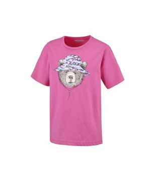 Pas cher T-Shirt Columbia Hike The Hills Rose Filles