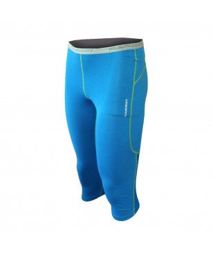 Mammut Alpine Underwear Warm Pants 3/4 Women Cyan