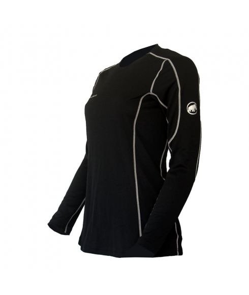 MAMMUT GO WARM LONGSLEEVE WOMEN - Black