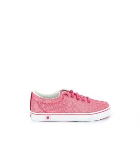 Pas cher Chaussures Running K-Swiss Low Rose Enfants