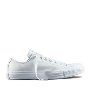 Chaussures Loisirs Converse Chuck Taylor All Star Low Leather Blanc Mixtes