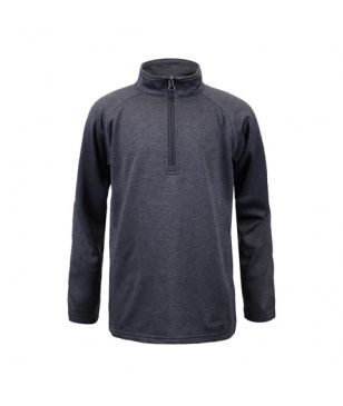 Pull Manches Longues Boulder Gear Charge Micro 1/4 Zip Gris Garçons