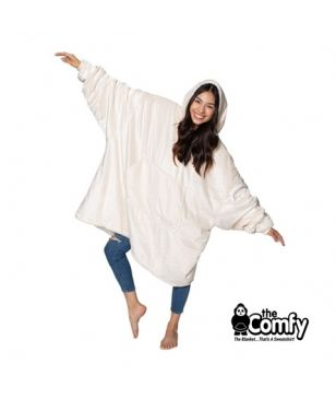The Comfy The Original Blanket Pull Cream Blanc Adultes Et Enfants
