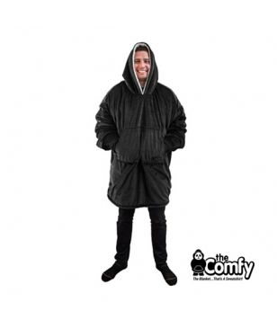 The Comfy The Original Blanket Pull Noir Adultes Et Enfants
