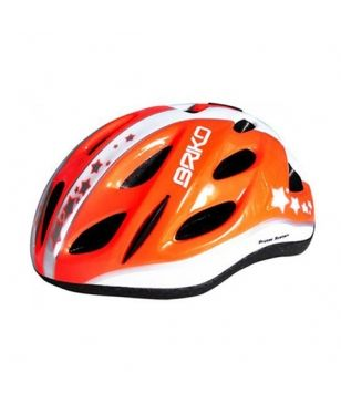 Briko Radhelm Pony Sterne Orange Kinder