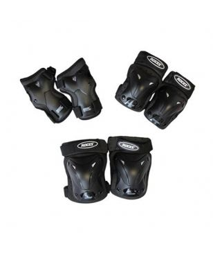 Pas cher Set Protections Roces Ventilated Lot de 3 JR Noir Enfants