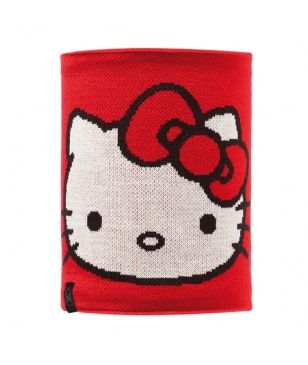 Cache Cou Buff Knitted & Polar Rouge Enfants