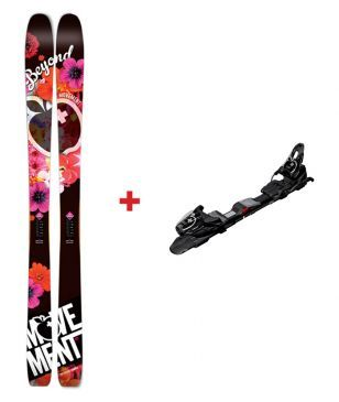 Movement Freeride Ski Beyond Mit Bindungen Schwarz Unisex
