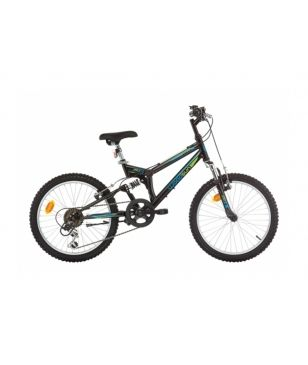 Woodsun Mountainbike TS20 Schwarz Kinder