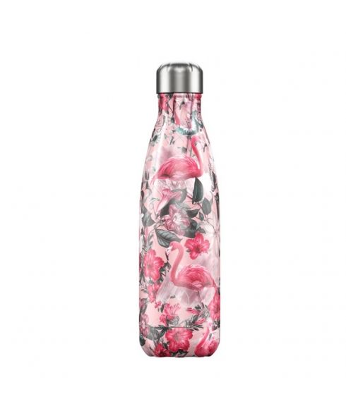 Gourde Isotherme Chilly's Tropical Flamingo 0.5L Rose Mixtes