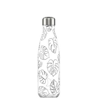 Chilly's Isotherm Trinkflasche Line Art Leaves 0.5 Grau Unisex