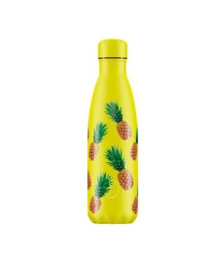 Chilly's Isotherm Trinkflasche New Icons Pineapple 0.5L Gelb Unisex
