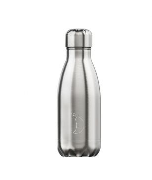 Chilly's Isotherm Trinkflasche Stainless Steel 0.26L Grau Unisex