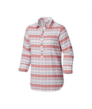 Chemise Longues Manches Columbia Summer Ease Popover Rouge Femmes