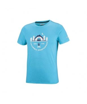T-Shirt Technique Columbia Nelson Point Graphic Bleu Hommes