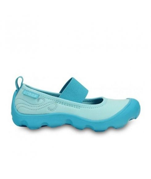 Pas cher Chaussures Loisirs Crocs Duet Busy Day Mary Jane Ice Bleu Enfants