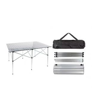 Table Pliante Double en Rouleau Summit 140x70cm Roll Top Gris Mixtes