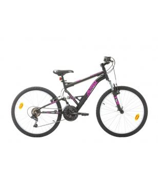 "Avigo Mountainbike A-Force 24 20"" 6 SP Schwarz Kinder"