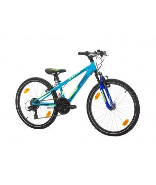 "Bikesport Mountainbike Rocky 24"" Bleu Kinder"