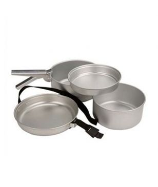 Set 5 Casseroles Camping Summit Argent Mixtes